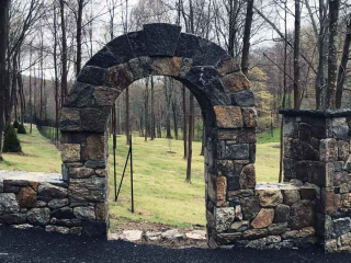 Stone Archway and Entranceway, Bedford Hills, NY, by Prado Stoneworks