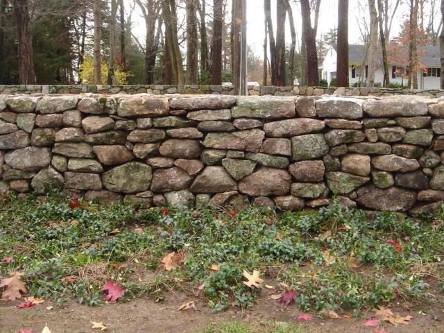 Dry Stone Wall, Pound Ridge, NY, by Prado Stoneworks