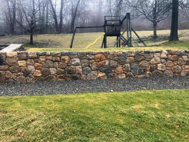 New England Stone Wall, Carmel, NY, by Prado Stoneworks