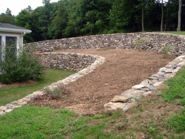 Garden Dry Retaining Walls, North Salem, NY, by Prado Stoneworks