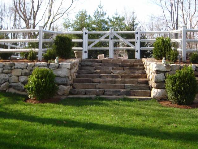 Stone Steps and Dry Walls, Wilton, CT, by Prado Stoneworks