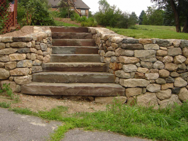 Stone Steps and Dry Walls, North Salem, NY, by Prado Stoneworks