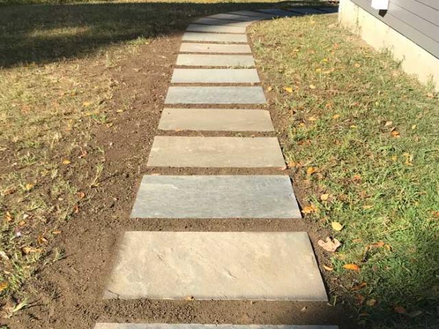 Bluestone Walkway, North Salem, NY, by Prado Stoneworks