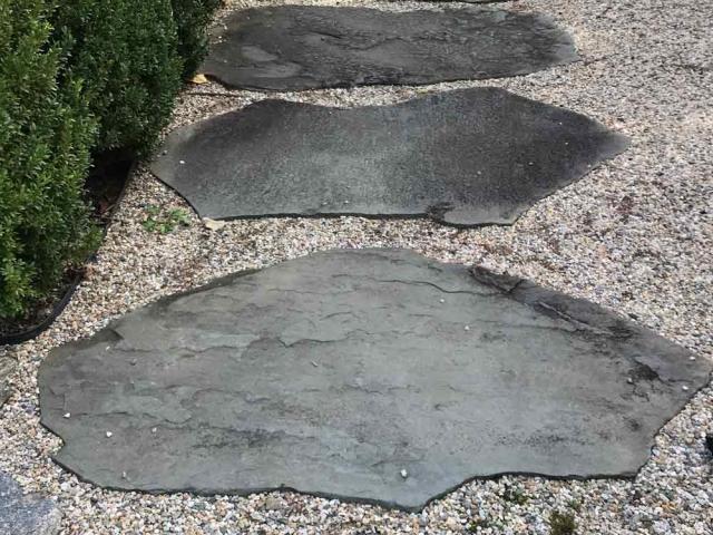 Large Natural Stepping Stone Walkway, Bedford, NY, by Prado Stoneworks