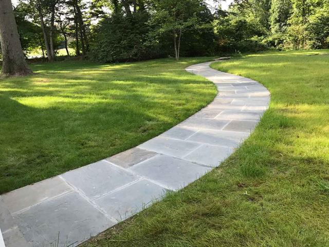 Bluestone Walkway, New Canaan, CT, by Prado Stoneworks