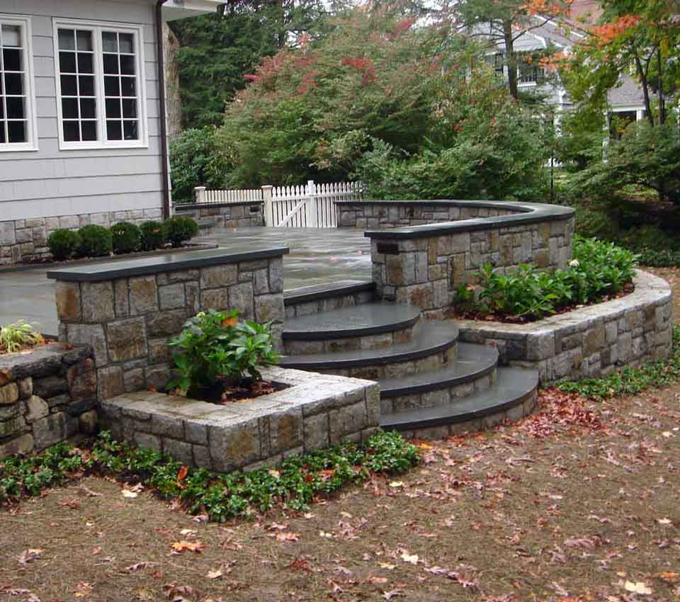 Stone Patio and Walls