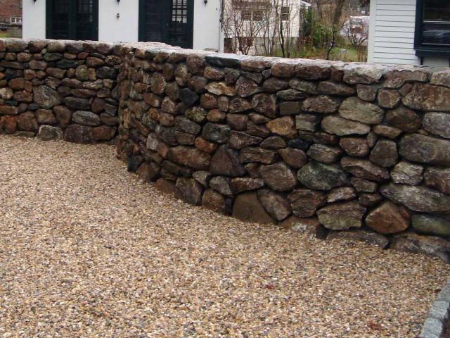 Parking Area Dry Stone Wall, North Salem, NY, by Prado Stoneworks