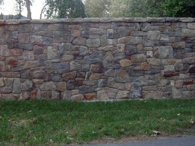 Thin Veneer, 600 Linear Foot Wall, Greenwich, CT, by Prado Stoneworks